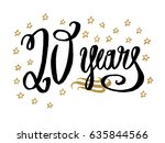 20 years card  banner....   Shutterstock .eps vector #635844566