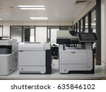 laser printer in office | Shutterstock . vector #635846102