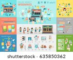online market infographic set... | Shutterstock .eps vector #635850362