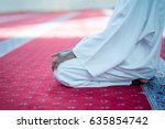 african muslim man praying to... | Shutterstock . vector #635854742