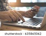 online payment man's hands