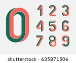 impossible shape numbers.... | Shutterstock .eps vector #635871506