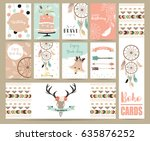 cute cards for banners flyers... | Shutterstock .eps vector #635876252