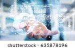 businessman on blurred... | Shutterstock . vector #635878196
