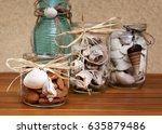 handmade marine decorations... | Shutterstock . vector #635879486