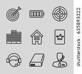 center icons set. set of 9... | Shutterstock .eps vector #635893322