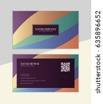 creative business card template | Shutterstock .eps vector #635896652