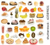 food collection isolated on... | Shutterstock . vector #63589831