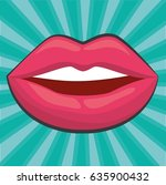 sensual lips icon   Shutterstock .eps vector #635900432