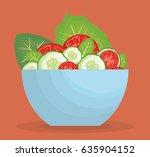 healthy vegetables design | Shutterstock .eps vector #635904152