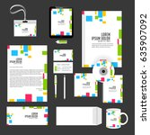creative templates for office... | Shutterstock .eps vector #635907092