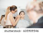 makeup artist at the studio... | Shutterstock . vector #635909546
