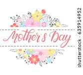 happy mothers day typography.... | Shutterstock .eps vector #635914952