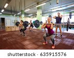 fitness  sport  training ... | Shutterstock . vector #635915576