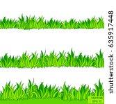vector image. set of green flat ... | Shutterstock .eps vector #635917448