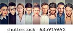 group of stressed people having ... | Shutterstock . vector #635919692