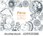 fitness breakfasts and brunches ... | Shutterstock .eps vector #635920388
