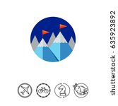 achievement concept icon with... | Shutterstock .eps vector #635923892