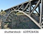 Arched Railroad Bridge Over...
