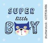 Stock vector super hero cat illustration vector for print 635936486