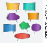 vector set of color speech... | Shutterstock .eps vector #635941712