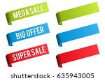 sale and discount price labels. | Shutterstock .eps vector #635943005