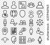 profile icons set. set of 25...   Shutterstock .eps vector #635946965