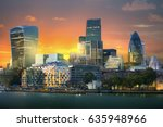 city of london view from the... | Shutterstock . vector #635948966
