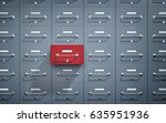 safe lockers and one of which... | Shutterstock . vector #635951936