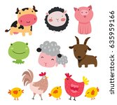 farm animals character design | Shutterstock .eps vector #635959166
