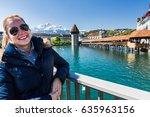 view of a young tourist girl in ...   Shutterstock . vector #635963156