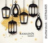 ramadan kareem background.... | Shutterstock .eps vector #635966405