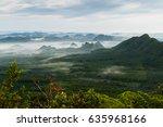 fog covering the mountain... | Shutterstock . vector #635968166