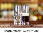 biker cocktail double rada  ... | Shutterstock . vector #635974982