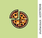 pizza icon | Shutterstock .eps vector #635978048