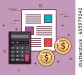 money related objects design | Shutterstock .eps vector #635979242