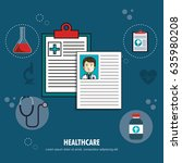 medical healthcare flat icons   Shutterstock .eps vector #635980208