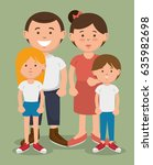 family vector design. | Shutterstock .eps vector #635982698