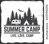 summer camp. vector... | Shutterstock .eps vector #635990096