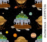 mythological planet earth... | Shutterstock .eps vector #635997236