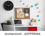 comfortable work space in baby... | Shutterstock . vector #635998466