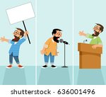 vector illustration of men... | Shutterstock .eps vector #636001496