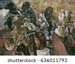 jazz club  jazz band ... | Shutterstock . vector #636011792