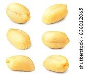 Peanuts. Peanut Nuts Isolated...