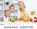 young kids with their mother in ...