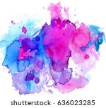 colorful abstract watercolor... | Shutterstock .eps vector #636023285