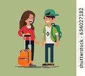 cool vector character... | Shutterstock .eps vector #636027182
