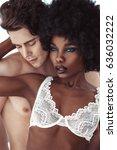 sexy beautiful brunette african ... | Shutterstock . vector #636032222