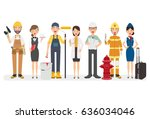 people group different... | Shutterstock .eps vector #636034046