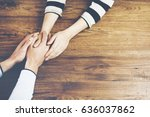 close up on a man and a woman... | Shutterstock . vector #636037862